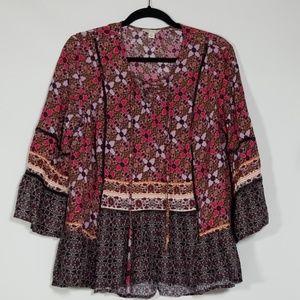 Women's Cato XL Boho Shirt Blouse Casual